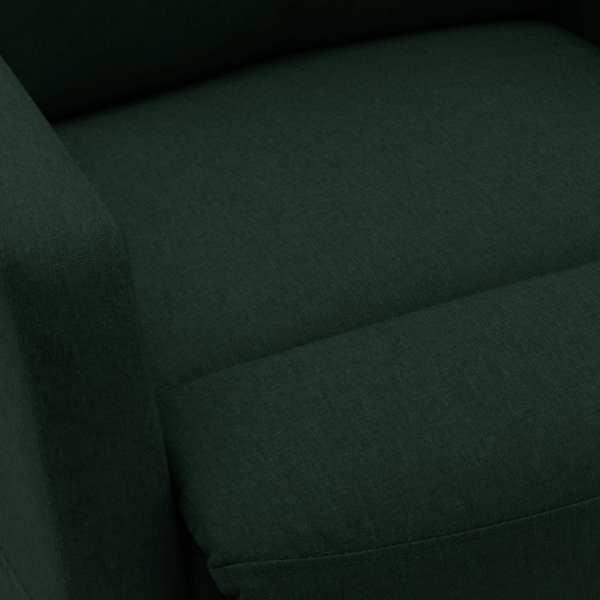 Fotoliu de masaj rabatabil cu ridicare, verde închis, textil