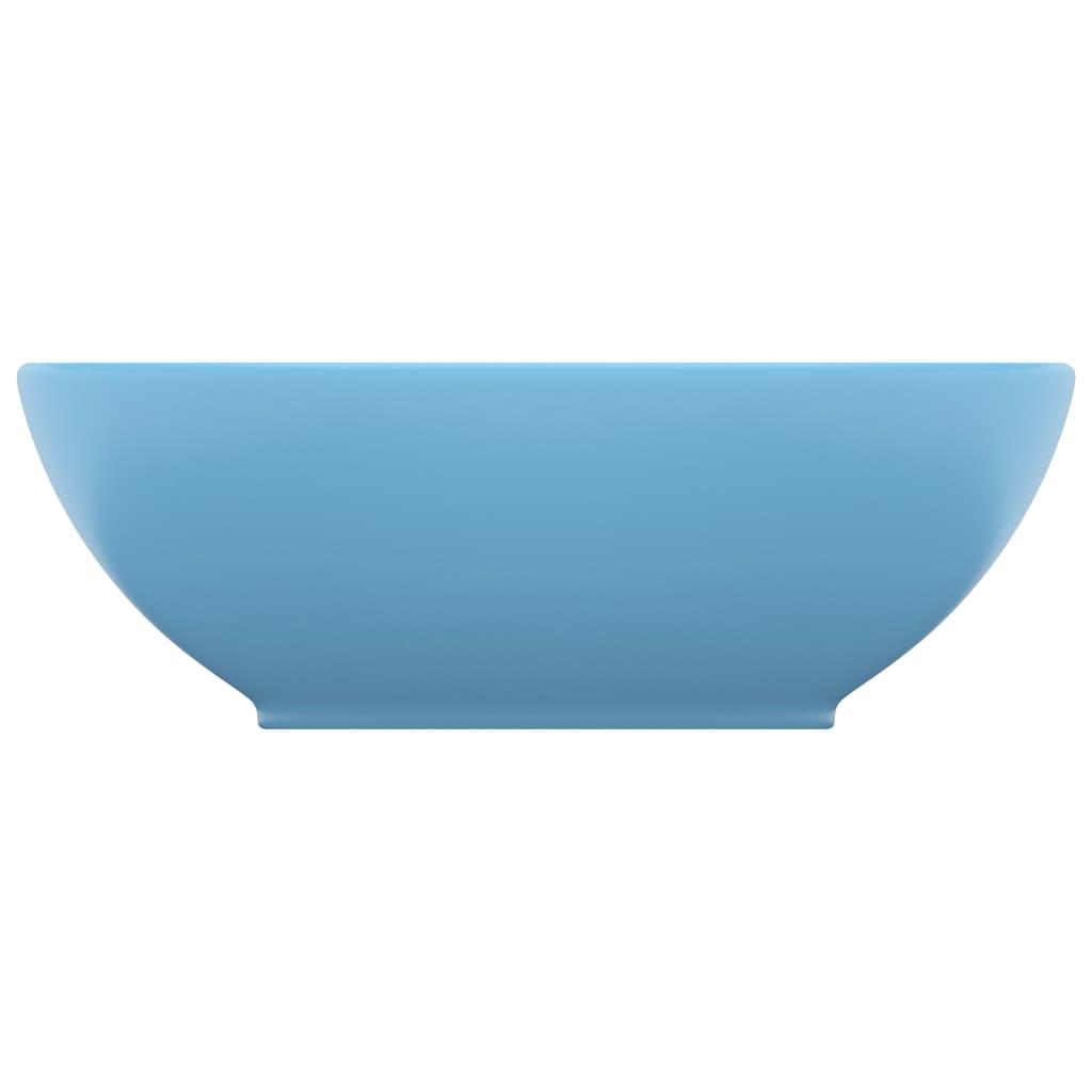 Chiuvetă de lux, albastru mat, 40×33 cm, ceramică, formă ovală