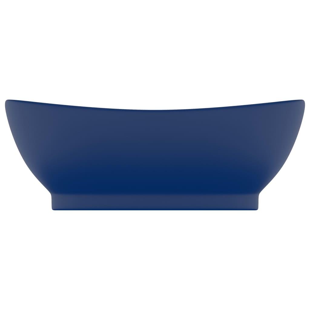 Chiuvetă lux preaplin albastru mat 58,5×39 cm ceramică oval