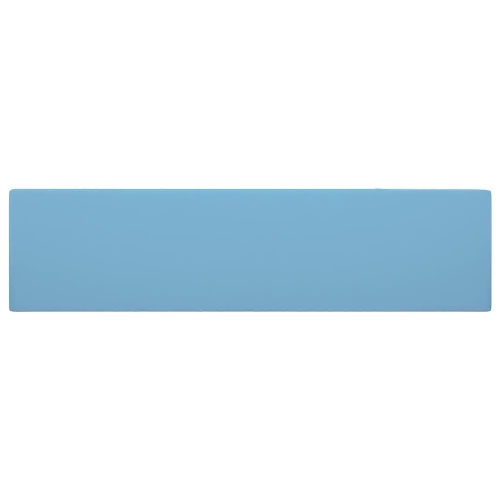 vidaXL Chiuvetă de baie cu preaplin, albastru deschis, ceramică