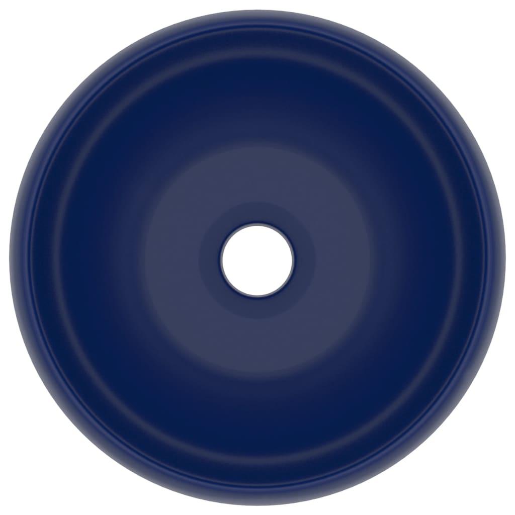 Chiuvetă baie lux albastru închis mat 40×15 cm ceramică rotund