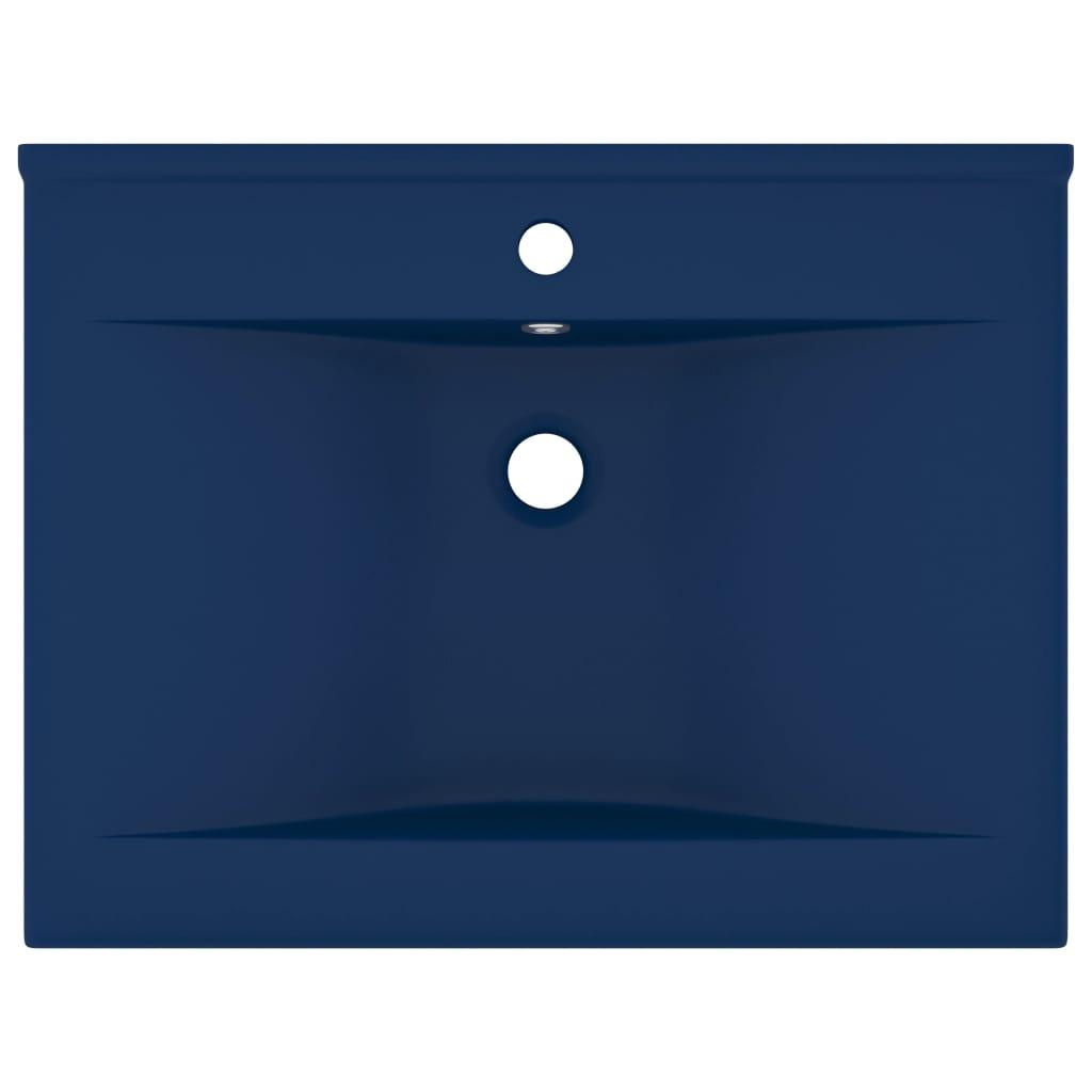 Chiuvetă baie lux orificiu robinet albastru 60×46 cm ceramică