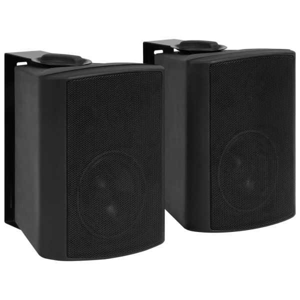 vidaXL Boxe stereo de perete, interior/exterior, 2 buc. negru, 80 W