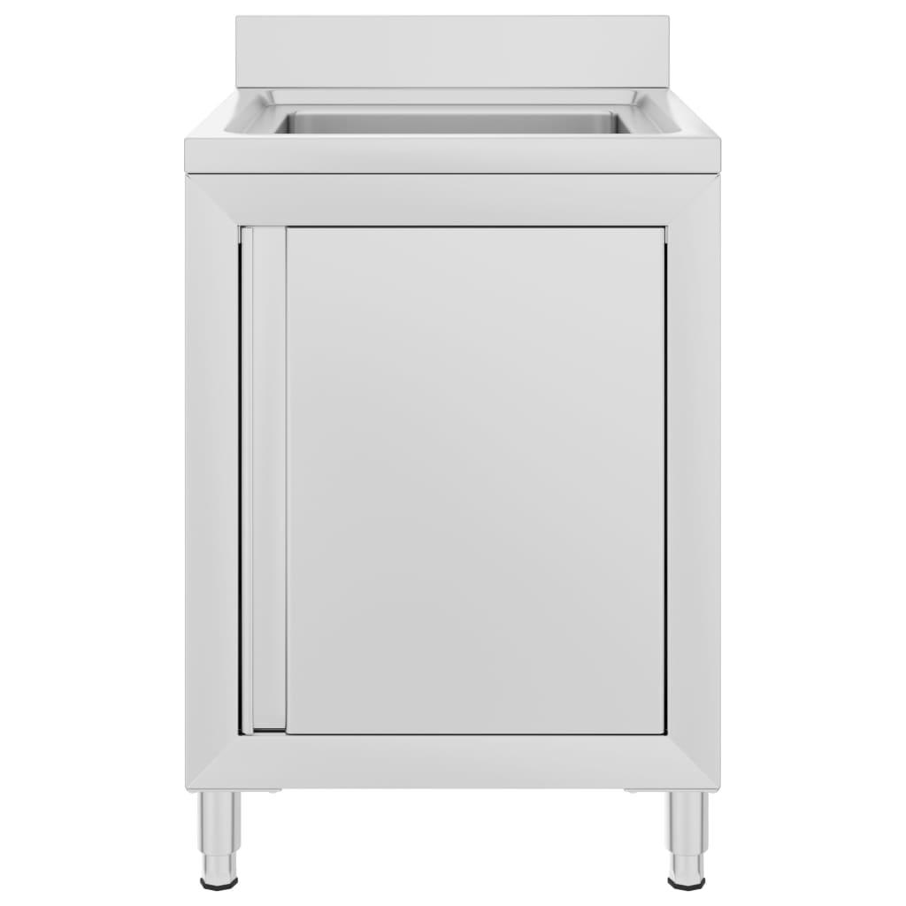 Dulap pentru chiuvetă comercial, 60x60x96 cm, oțel inoxidabil