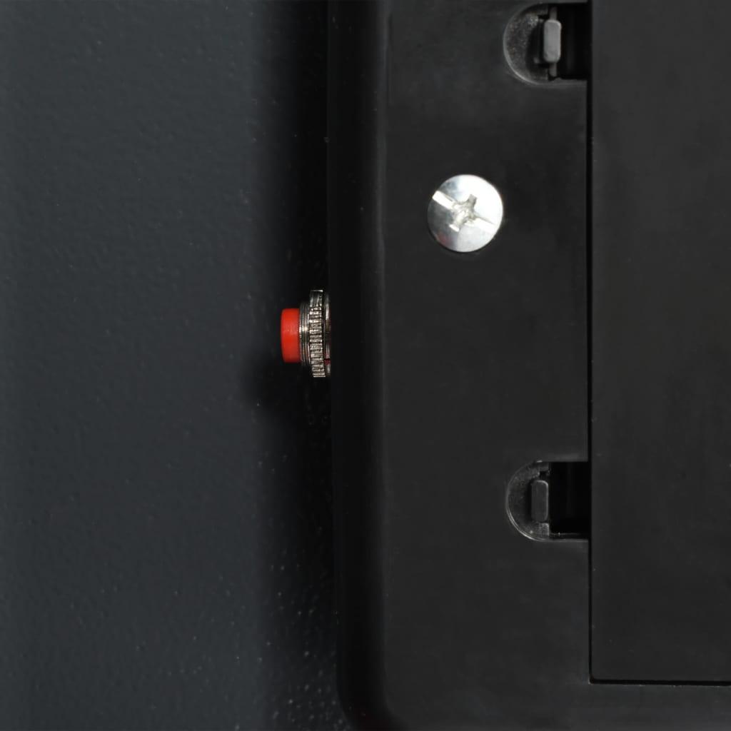 Seif digital cu ușă dublă, gri închis, 35 x 31 x 80 cm