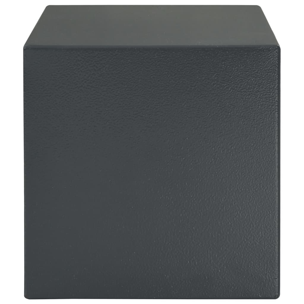 Seif mecanic, gri închis, 35 x 25 x 25 cm, oțel