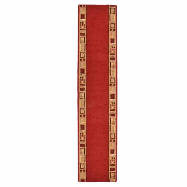vidaXL Covor traversă, suport gel, roșu, 67×400 cm
