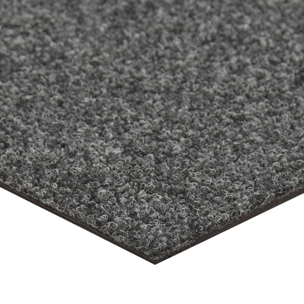 Dale mochetă pentru podea, 20 buc., gri închis, 5 m²