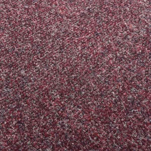 Dale mochetă pentru podea, 20 buc., roșu închis, 5 m²