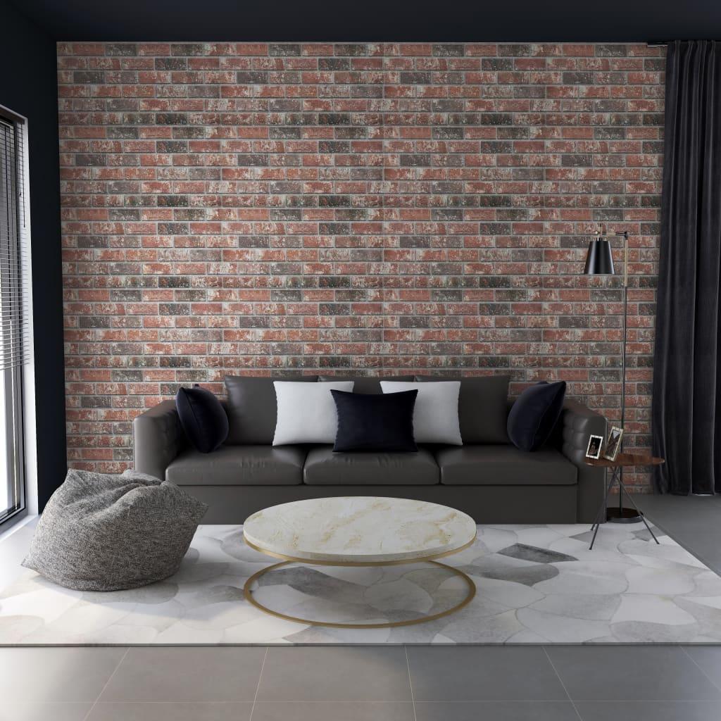 vidaXL Panouri de perete 3D model cărămidă maro închis/gri 11 buc. EPS