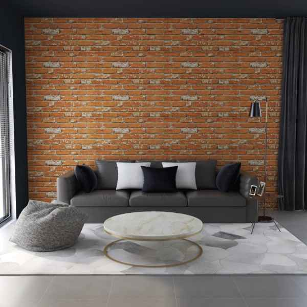 vidaXL Panouri de perete 3D, model cărămidă, maro deschis, 11 buc. EPS