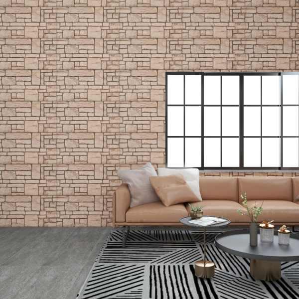 vidaXL Panouri de perete 3D, model cărămidă, bej, 11 buc., EPS