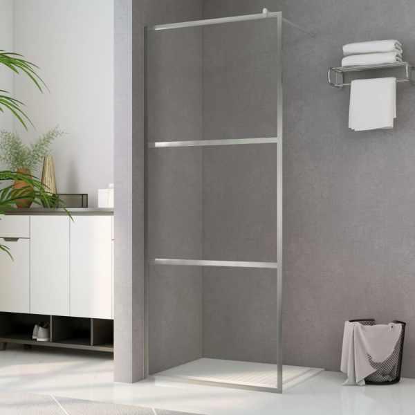 vidaXL Paravan de duș walk-in, 100 x 195 cm, sticlă ESG transparentă