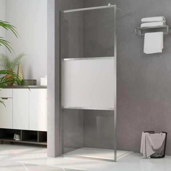 vidaXL Paravan de duș walk-in, 90 x 195 cm, sticlă ESG semi-mată