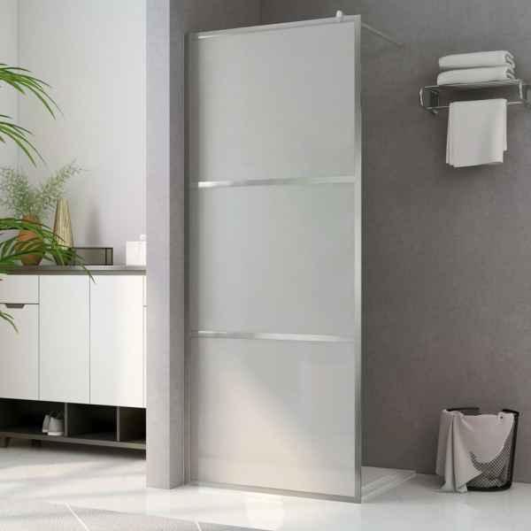 vidaXL Paravan de duș walk-in, 140 x 195 cm, sticlă ESG mată integral