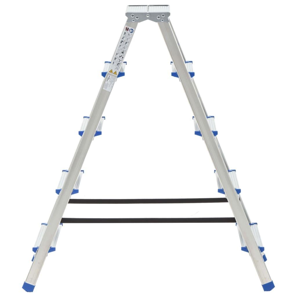 vidaXL Scară dublă cu 5 trepte, 113 cm, aluminiu