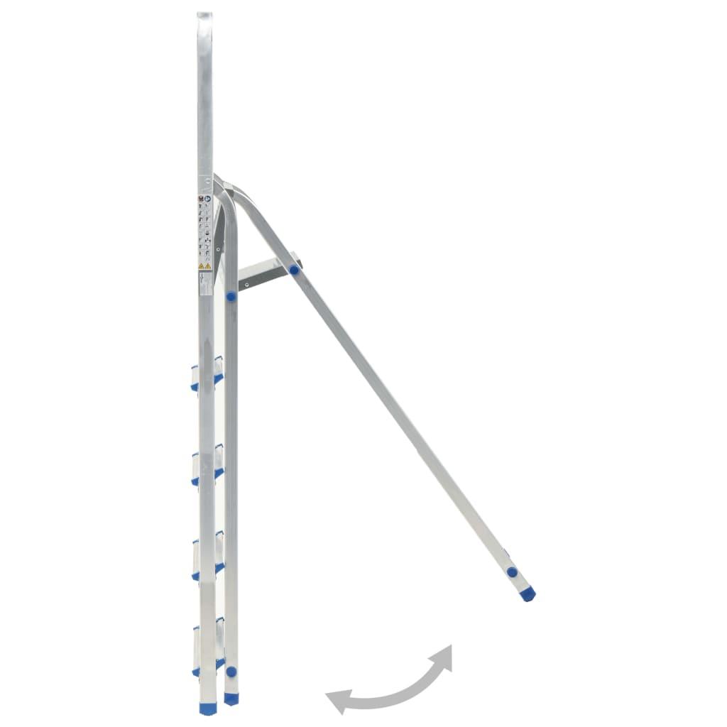Scară cu 5 trepte, 150 kg, aluminiu