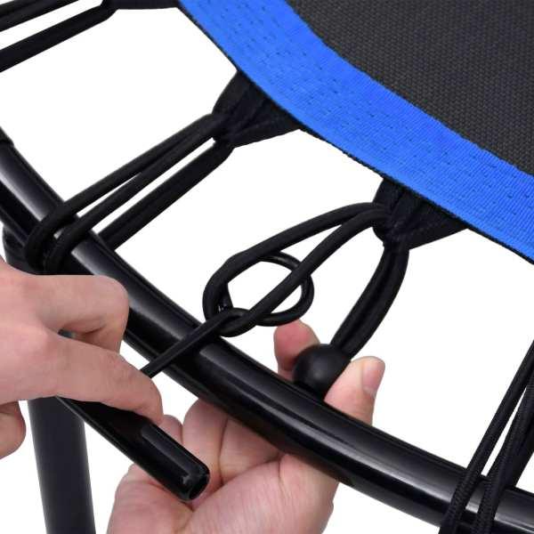 vidaXL Trambulină de fitness cu mâner, 122 cm
