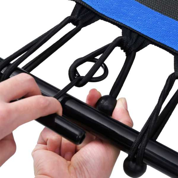 vidaXL Trambulină de fitness mâner și margine siguranță 122 cm hexagon