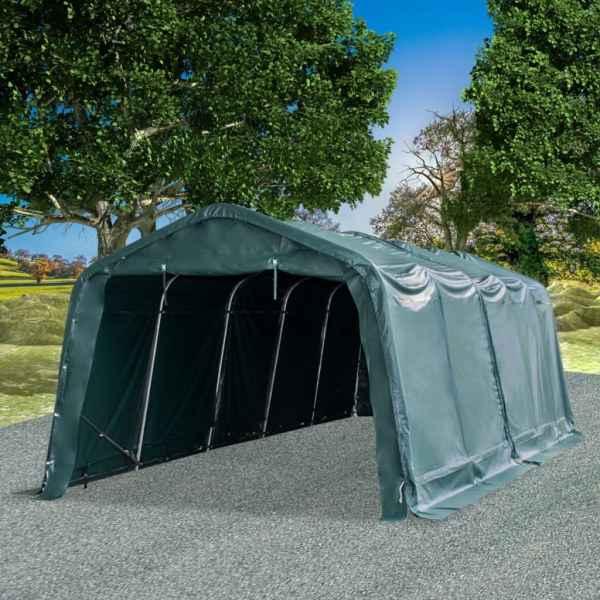 vidaXL Cort de animale detașabil verde închis 3,3×8 m PVC 550g/m²