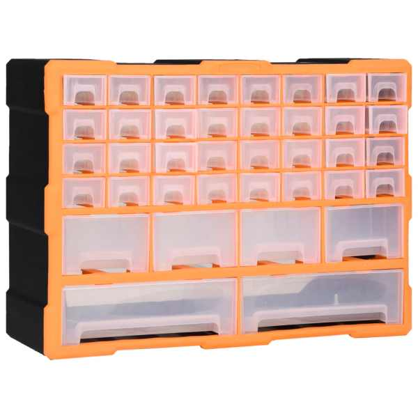 vidaXL Organizator cu 40 de sertare, 52 x 16 x 37,5 cm