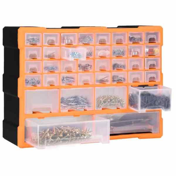 Organizator cu 40 de sertare, 52 x 16 x 37,5 cm