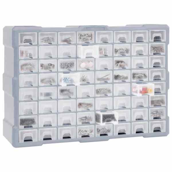 Organizator cu 64 de sertare, 52 x 16 x 37,5 cm