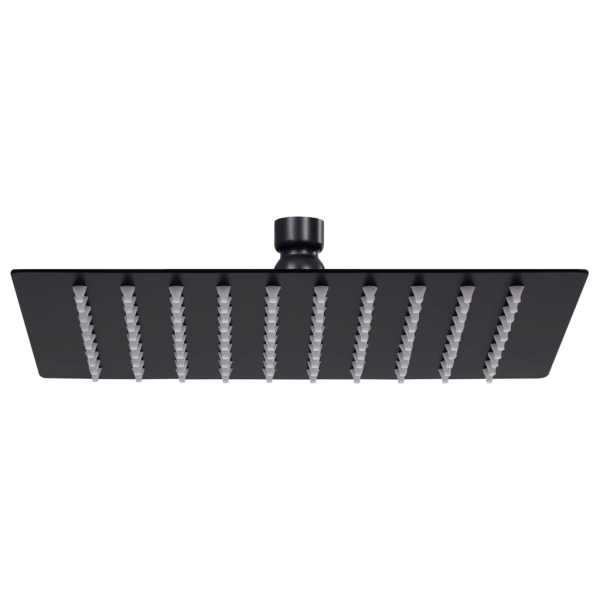 vidaXL Cap de duș tip ploaie pătrat, negru, 20×20 cm, oțel inoxidabil
