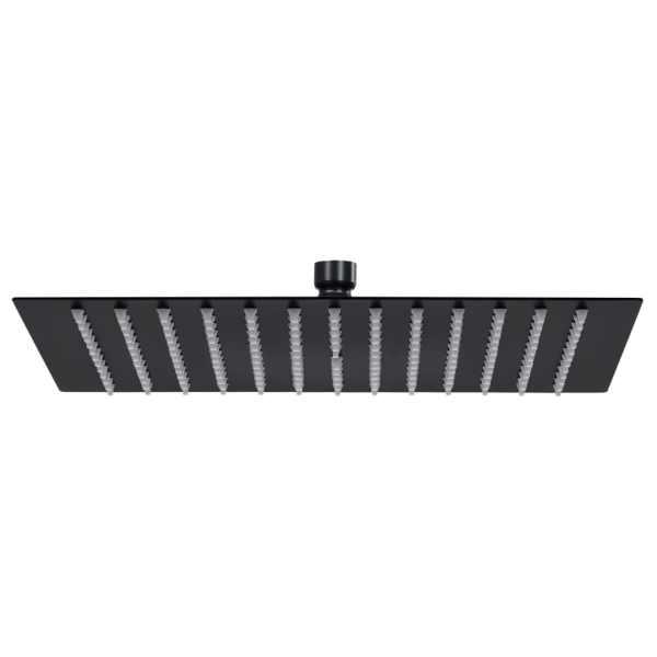 vidaXL Cap de duș tip ploaie pătrat, negru, 30×30 cm, oțel inoxidabil