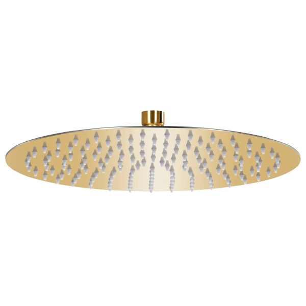 vidaXL Cap de duș tip ploaie rotund, auriu, 30 cm, oțel inoxidabil