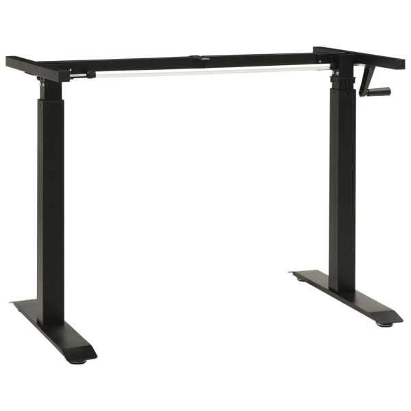 vidaXL Cadru de birou cu înălțime reglabilă manual, manivelă, negru