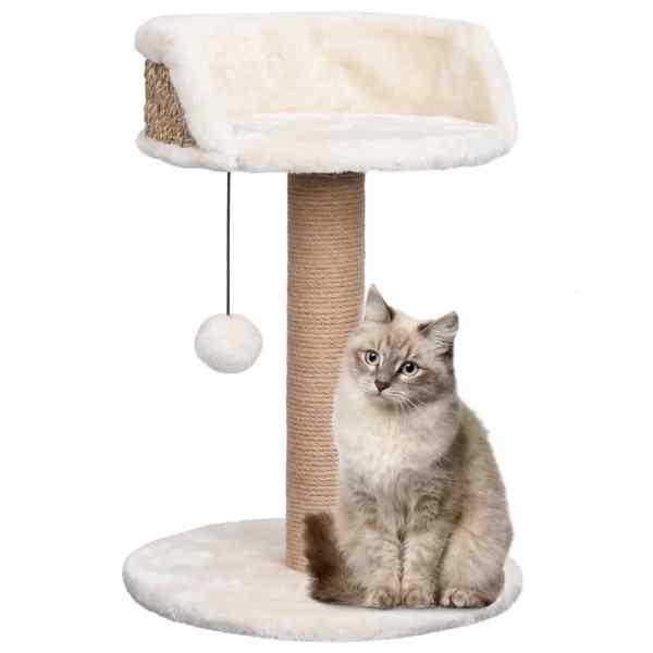 vidaXL Ansamblu pentru pisici cu stâlp de zgâriat 49 cm iarbă de mare