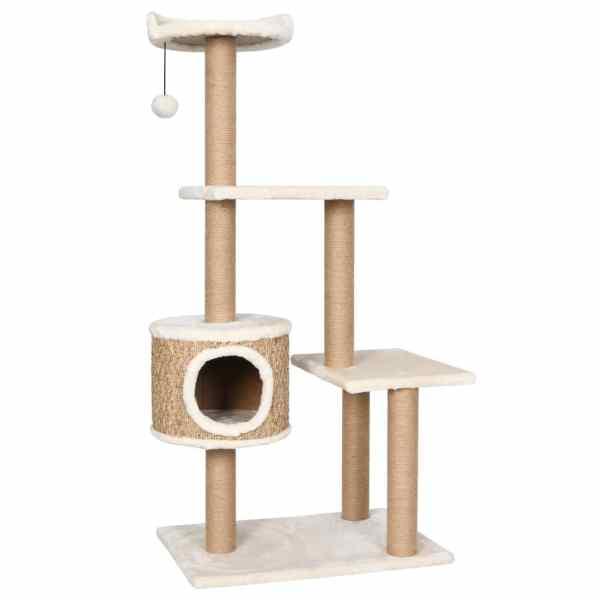 Ansamblu pentru pisici cu stâlp de zgâriat 123 cm iarbă de mare