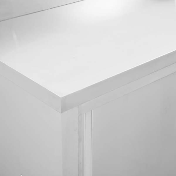 Mese de lucru uși glisante 2 buc. 200x50x95 cm oțel inoxidabil