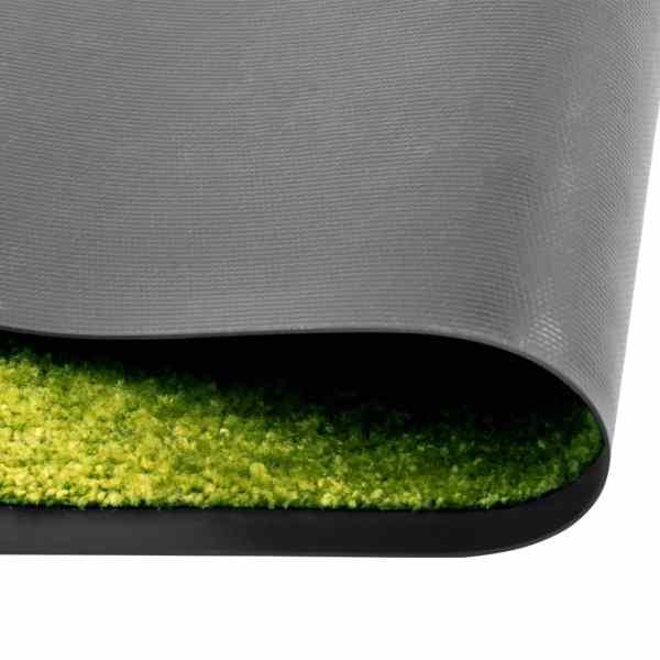 vidaXL Covoraș de ușă lavabil verde 90×120 cm