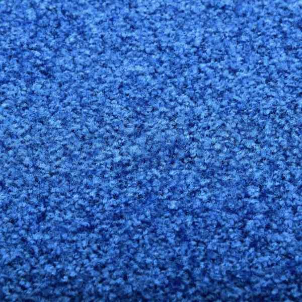 vidaXL Covoraș de ușă lavabil, albastru, 120 x 180 cm
