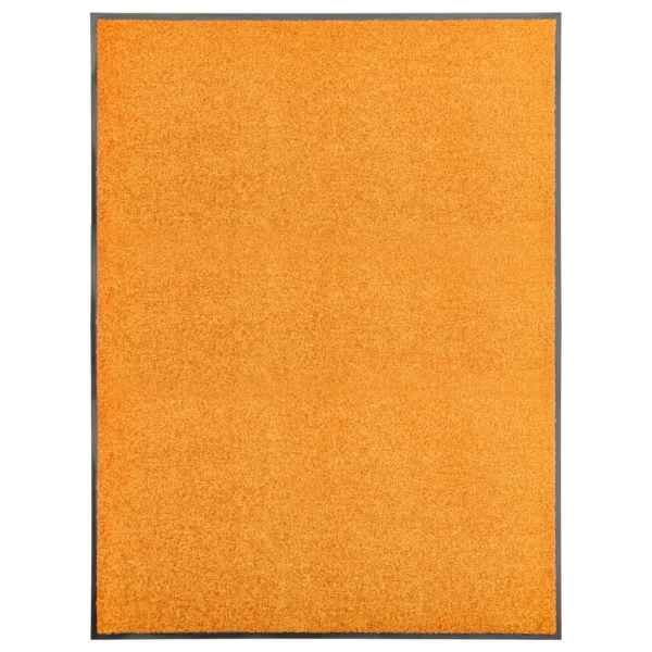 vidaXL Covoraș de ușă lavabil portocaliu 90×120 cm