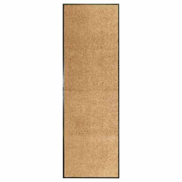 vidaXL Covoraș de ușă lavabil, crem, 60 x 180 cm