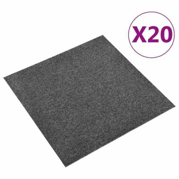 vidaXL Plăci de pardoseală, 20 buc., antracit, 50 x 50 cm, 5 m²