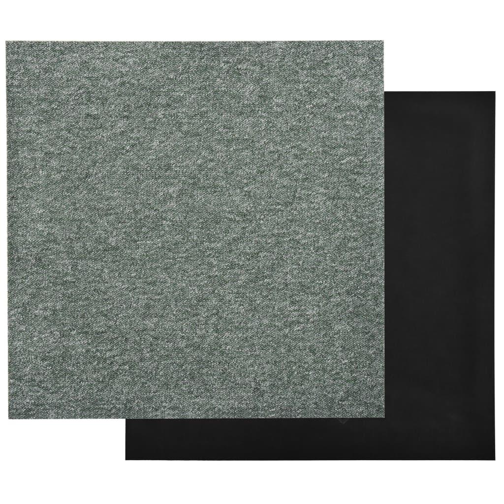 Plăci de pardoseală, 20 buc., verde, 50 x 50 cm, 5 m²