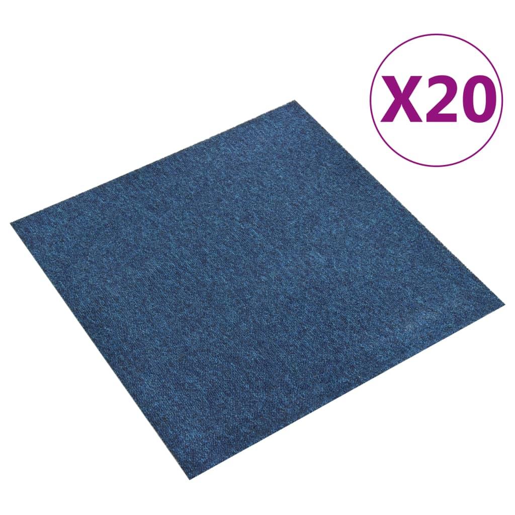 vidaXL Plăci de pardoseală, 20 buc., albastru închis, 50 x 50 cm, 5 m²