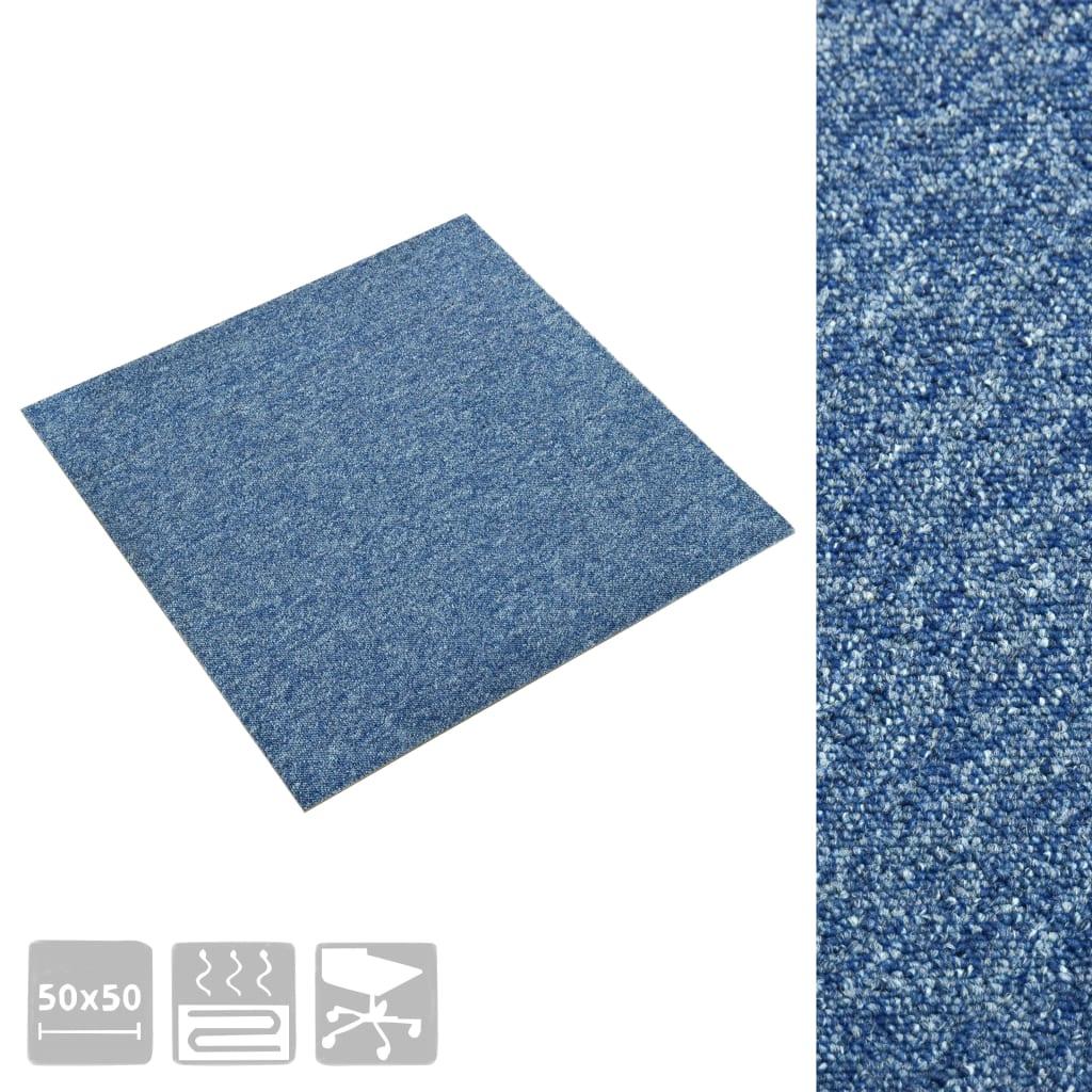 Plăci de pardoseală, 20 buc., albastru, 50 x 50 cm, 5 m²