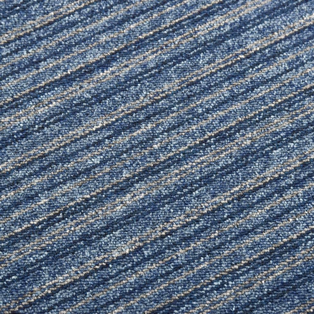 Plăci de pardoseală, 20 buc., albastru cu dungi, 50×50 cm, 5 m²