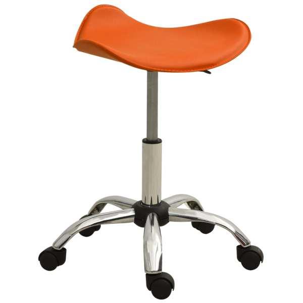 vidaXL Scaun pentru salon spa, portocaliu, piele ecologică