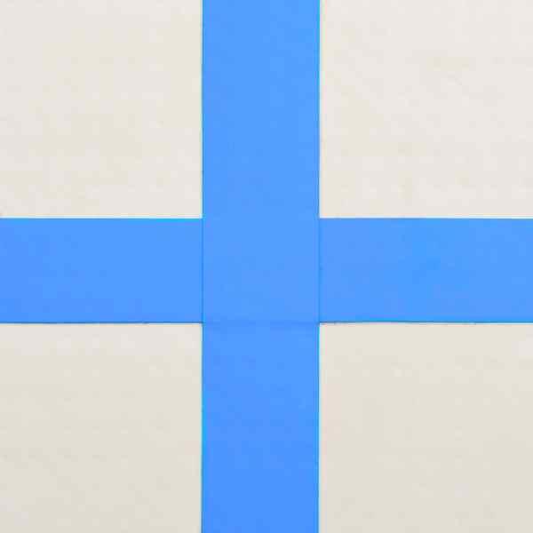 vidaXL Saltea gimnastică gonflabilă cu pompă albastru 600x100x20cm PVC