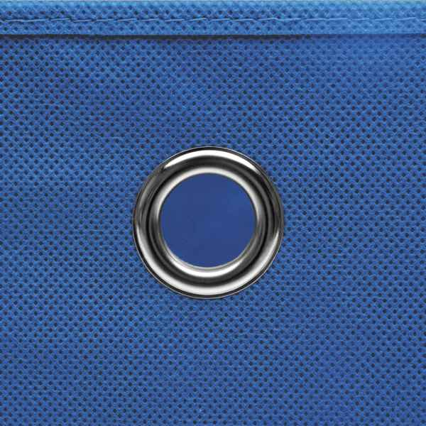 Cutii depozitare, 4 buc., albastru, 28x28x28 cm, textil nețesut