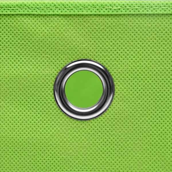 Cutii depozitare cu capac, 4 buc., verde, 28x28x28 cm