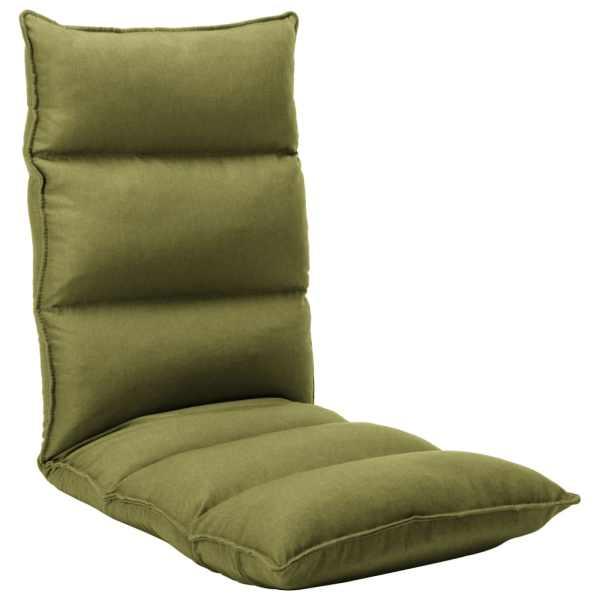 vidaXL Scaun de podea pliabil, verde, material textil