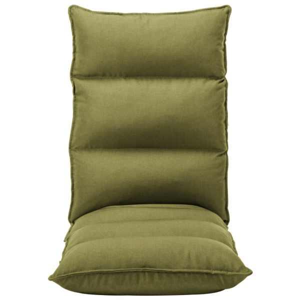 Scaun de podea pliabil, verde, material textil
