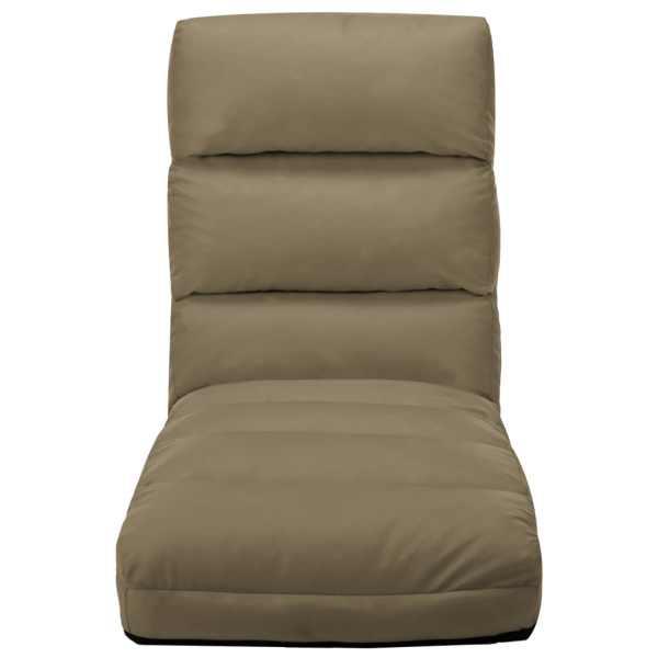Scaun de podea pliabil, cappuccino, piele ecologică